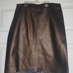 Ann Taylor 100% Leather Pencil Skirt Sz. 6